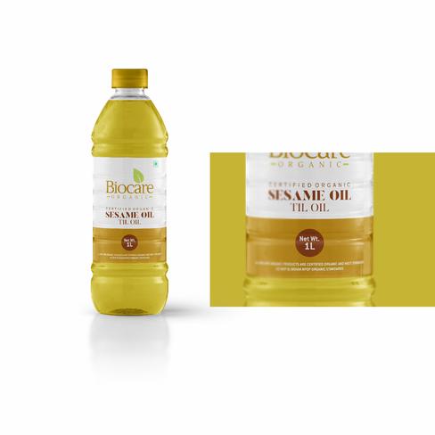 Biocare Organic Oil Label