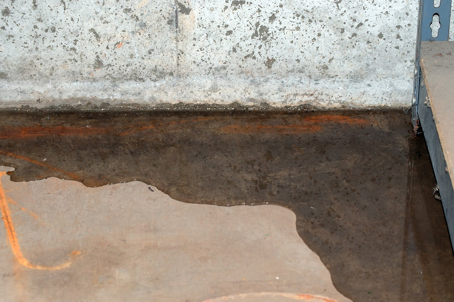 Leak under concrete floor