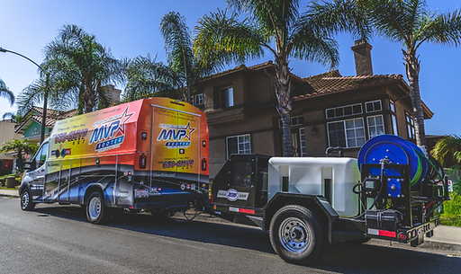 MVP Rooter truck with hydrojet attached