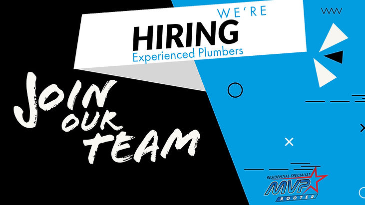 Join our team. Now hiring experienced plumbers