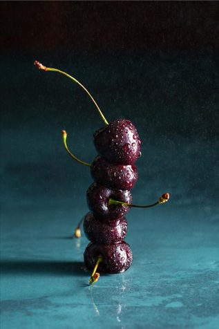 Cherries Photography, styling & editing: Rosie Beare