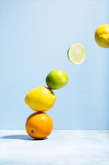 Flying fruit Photography, styling & editing: Rosie Beare