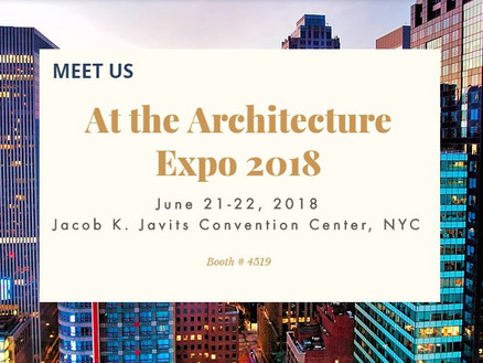 Meet Us At The Architecture Expo 2018
