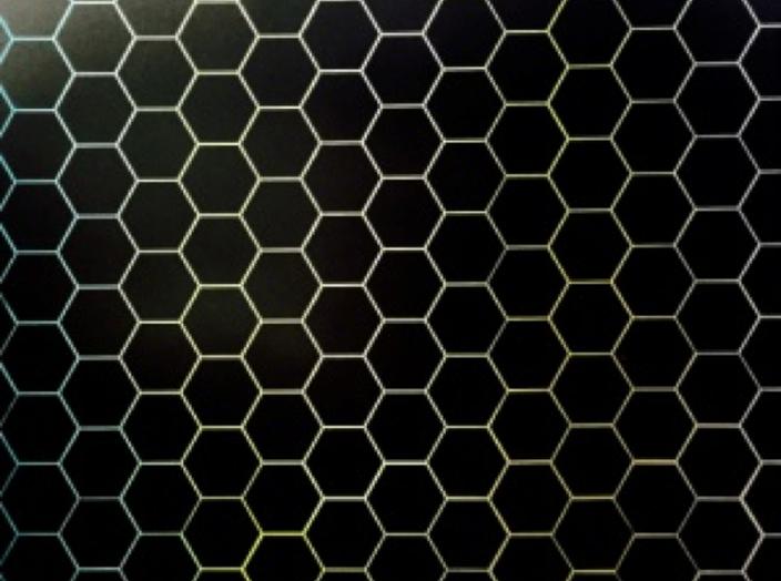 Hexagonal Study in Black