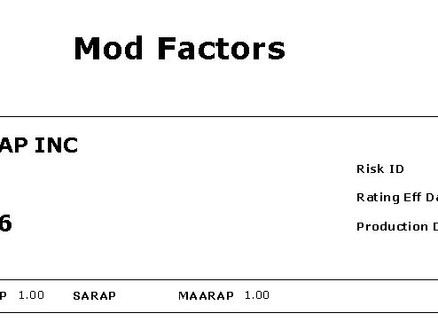 Our Experience Modification Rate (EMR) has Reached Impressive Score of .76
