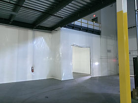temporary dust barrier walls, Interior Protection Walls, Frameless Wall Containments, dust containment walls