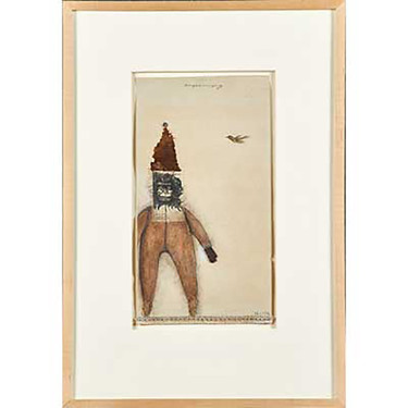 Untitled (figure with bird)