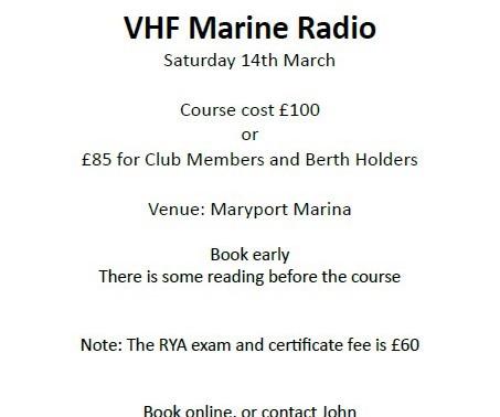 Marine VHF Course at Maryport Marina