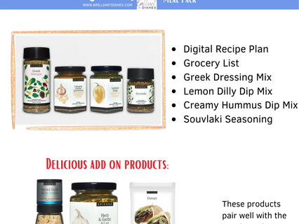 Greek Inspired Dishes