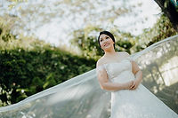Bride garden wedding in Rizal by makeup artist