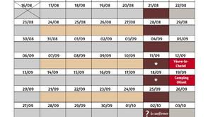 Fin août 2021 et SEPTEMBRE :  Horaires de l'atelier- boutique et marchés