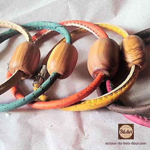 Bracelet olivier lien simple liège fermoir magnétique  -FICHE PRODUIT TEMPORAIRE