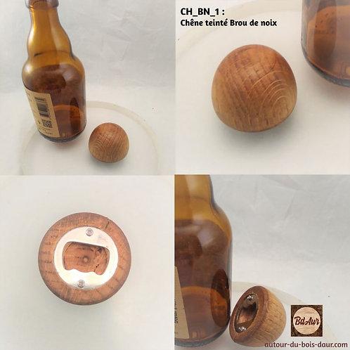 """Décapsuleur """" Boule"""" en Bois teinté (bois européen)"""