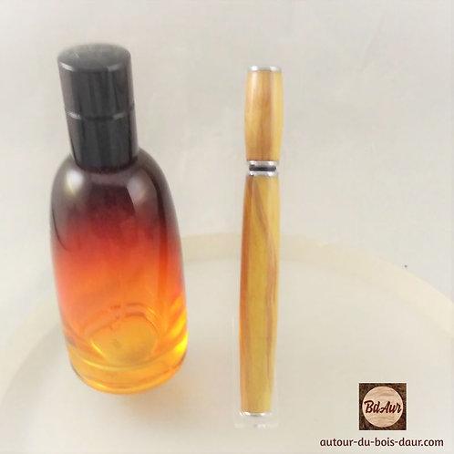 Applicateur de parfum en Prunier Sauvage (Bois Européen TF) plaquage Chrome