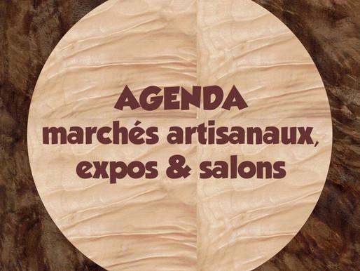 Agenda des marchés artisanaux à venir