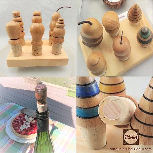 Mécanisme bouchon bois Hêtre / liège - Collection Nature
