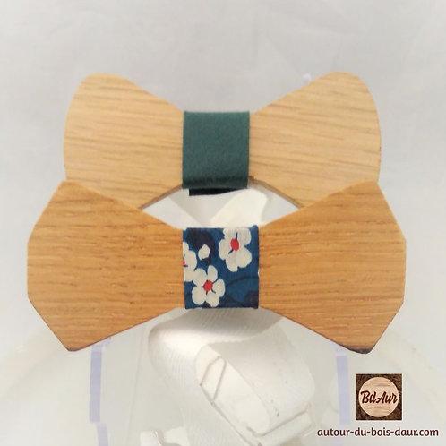 Noeud Papillon en bois (Chêne) Tour de noeud interchangeable