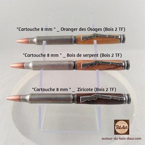 Mécanisme stylo Cartouche 8 mm plaquage Étain patiné
