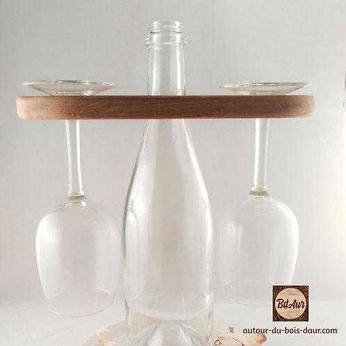 Présentoir bouteille et ses 2 verres _ FICHE PRODUIT TEMPORAIRE