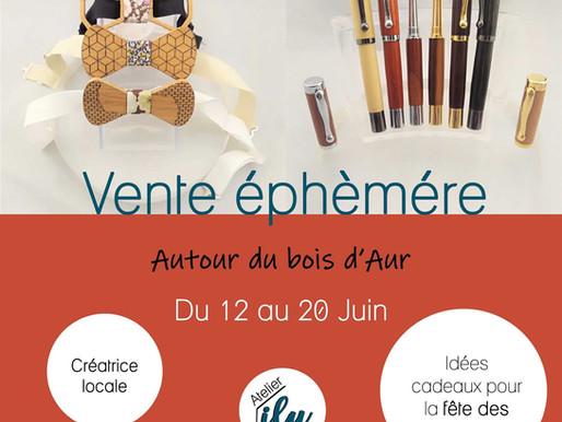 """Vente éphémère """" Fête des Pères"""" à l'Atelier Ilu du 12 au 20 juin 2020"""