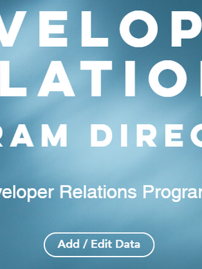 The Developer Relations Program Directory