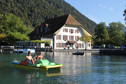 Pedalo boat ride on Lake Thun