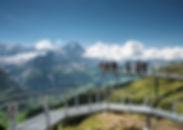 first cliff walk suspension bridge platform, intelaken grindelwald switzerland