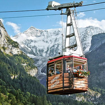 فينج ستيج - عربه الكابل , جرنديوالد Pfingstegg cable car in Grindelwald, mountain restaurant and toboggan ride!