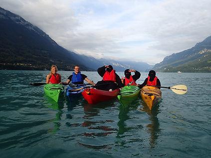 Family fun kayaking lake brienz hightide interlaken canoeing