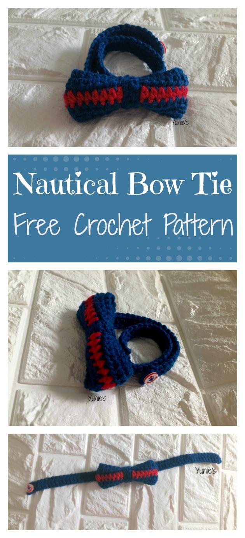 Free Bow Tie Crochet Pattern Nautical BowTie