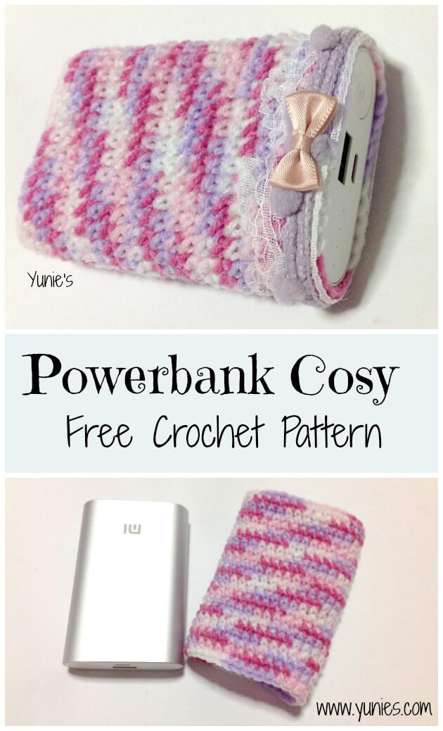 Free Crochet Pattern : Xiaomi 10000mah power bank pouch