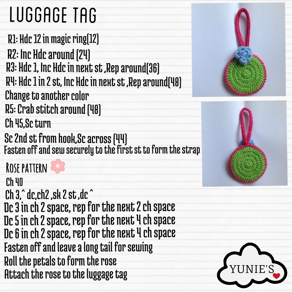 Free crochet pattern Luggage tag.jpg