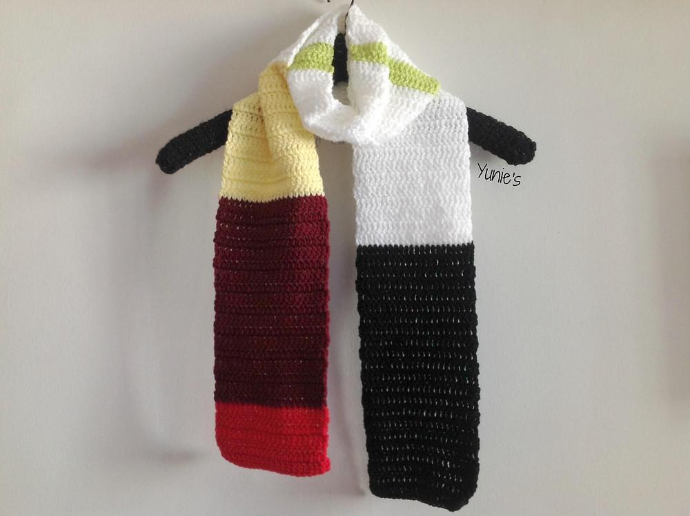 Crochet sushi scarf