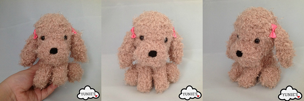 Yunies Fluffy dog Crochet Amigurumi