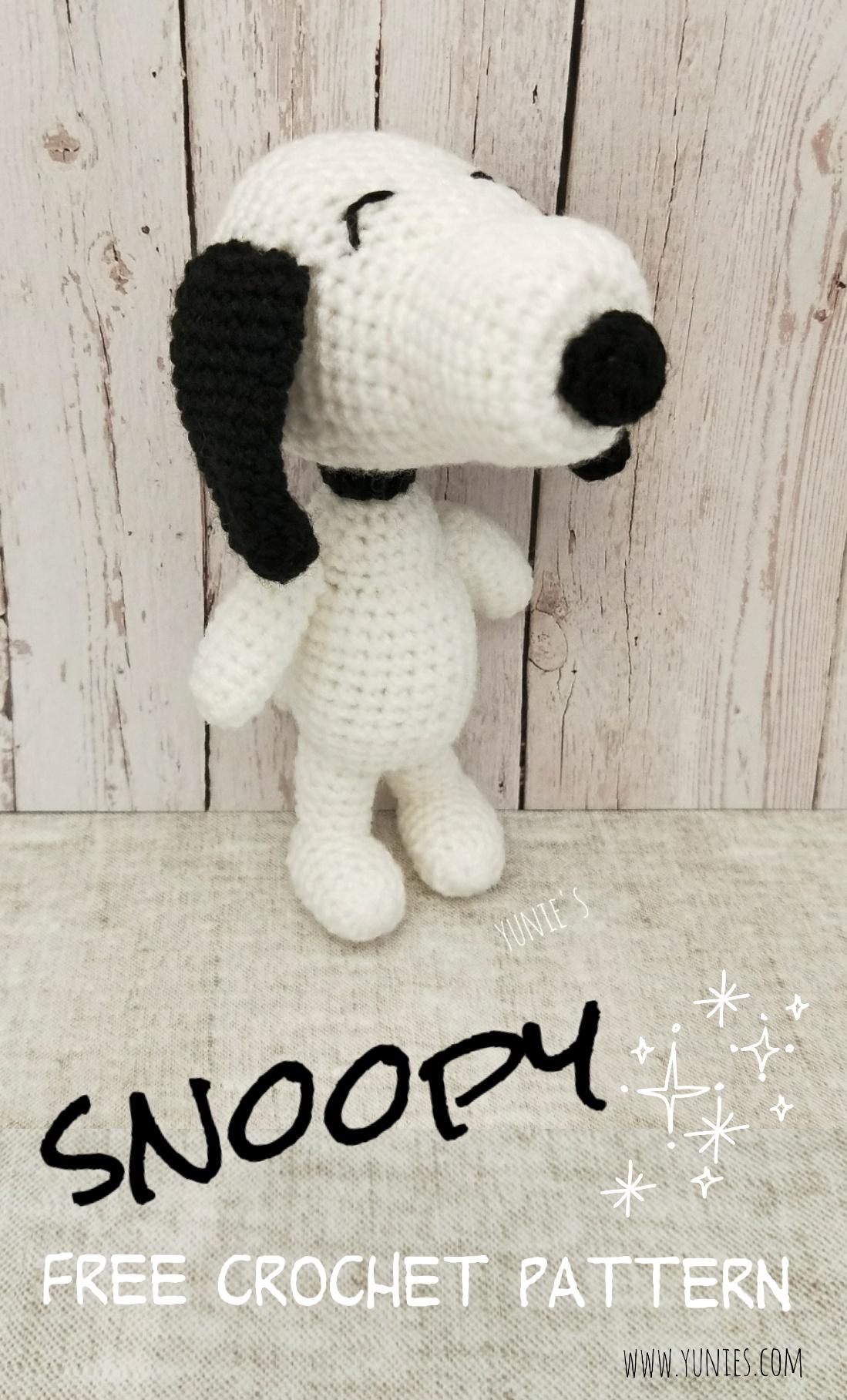 Free crochet pattern : Snoopy Amigurumi | Free Crochet Pattern ...