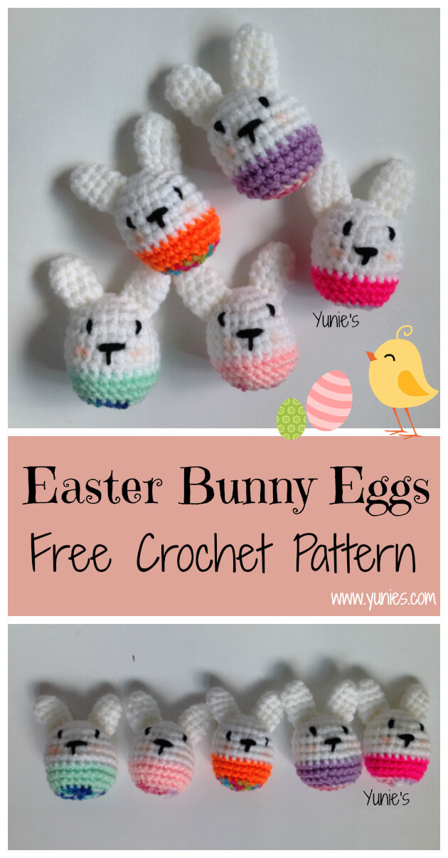 Easter Bunny Egg free crochet Pattern