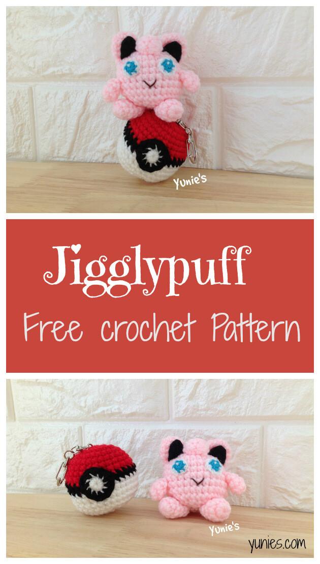 Free crochet pattern Jigglypuff amigurumi