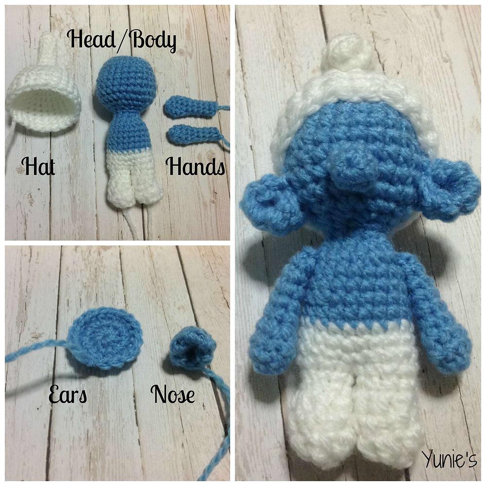 Smurf free crochet pattern