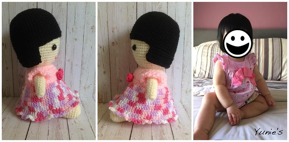 Amigurumi girl doll
