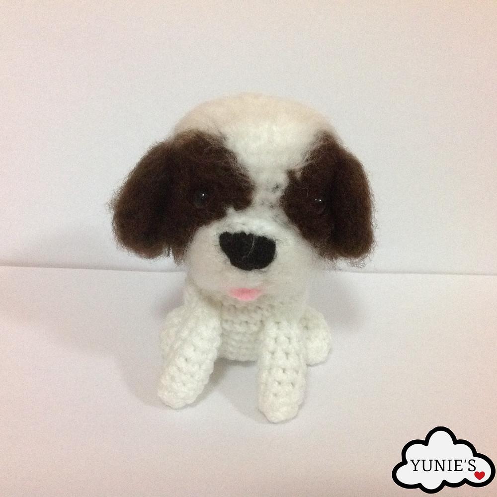 Brown crochet dog