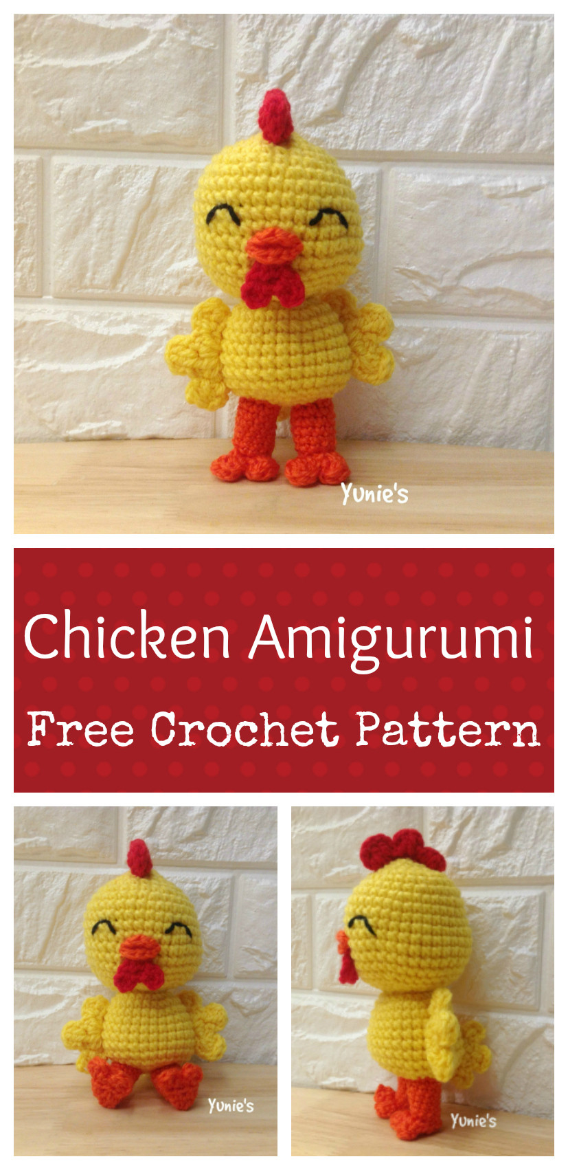 year of rooster free crochet pattern