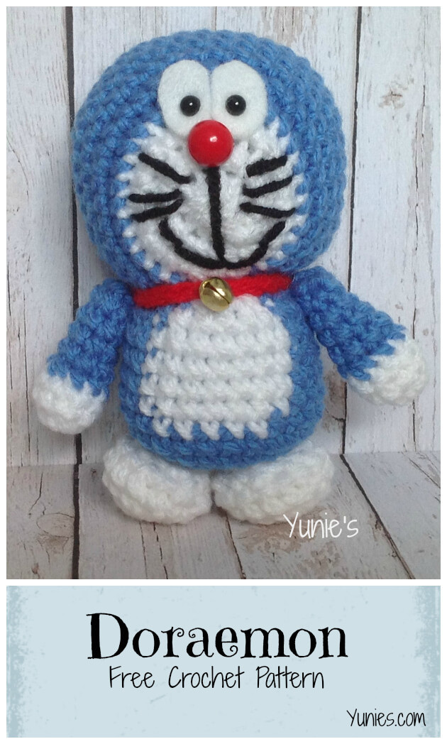free doraemon crochet pattern