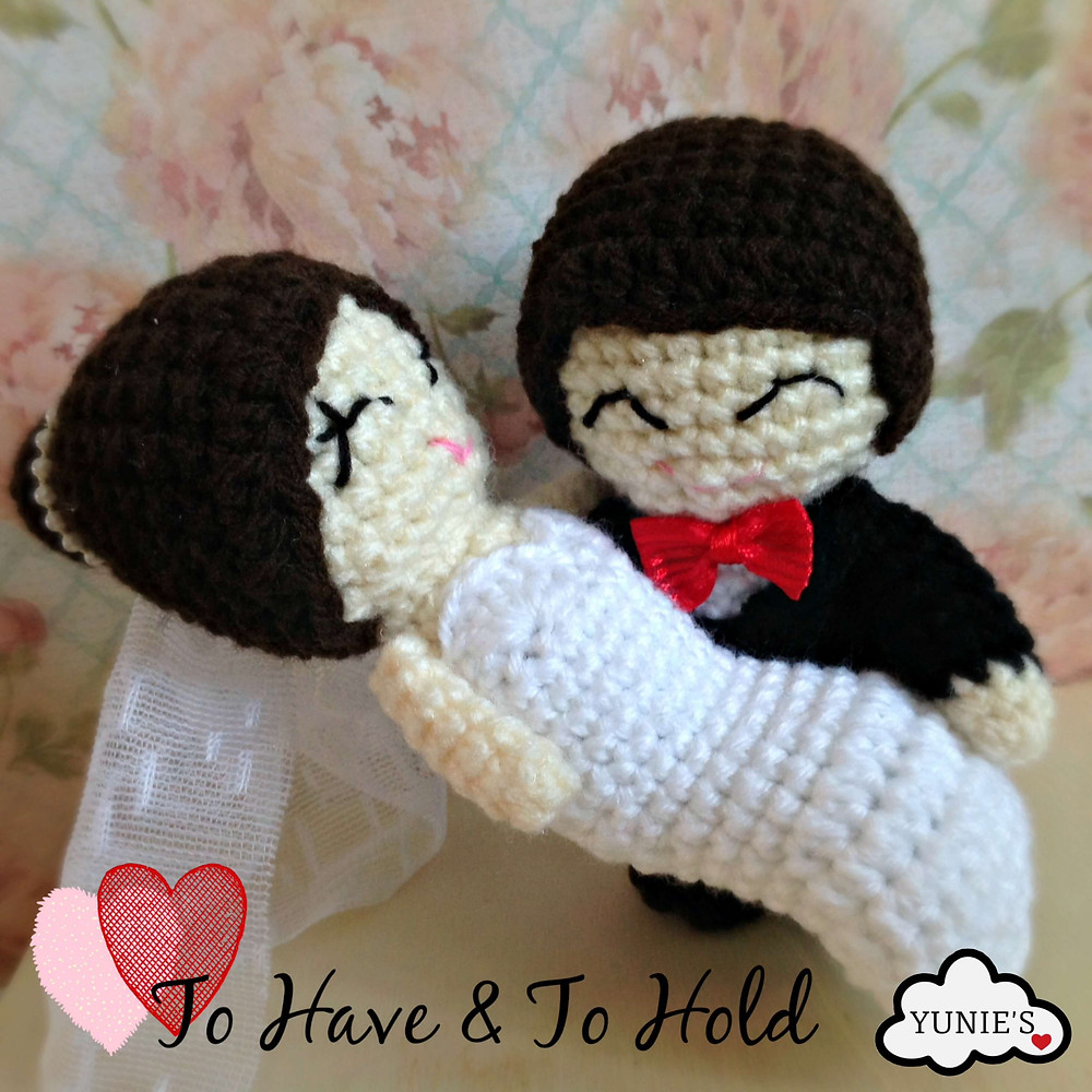 Yunies Crochet wedding dolls Klion To have and to hold