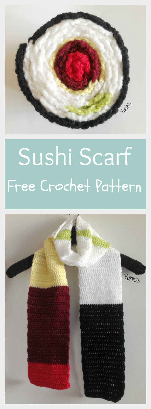 Sushi-Scarf-Free-Crochet-Pattern