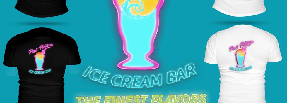 branding for pink pelican icecream bar.j