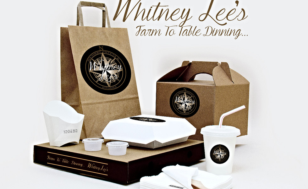 whitney lees logo on box and bags exampl