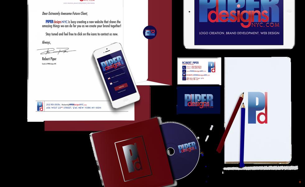 piper design branding mock up for websit