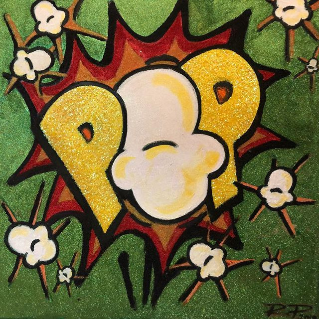 Retro Pop! Mixed Media Original Art by R