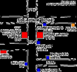 地图上列出的5家酒店距离NEP仅几步之遥......