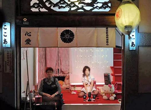 日本飞田新地,新型开放妓院